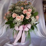 dozen pink spray roses vased  $75.00
