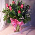 tulips vased  35.00  45.00  55.00